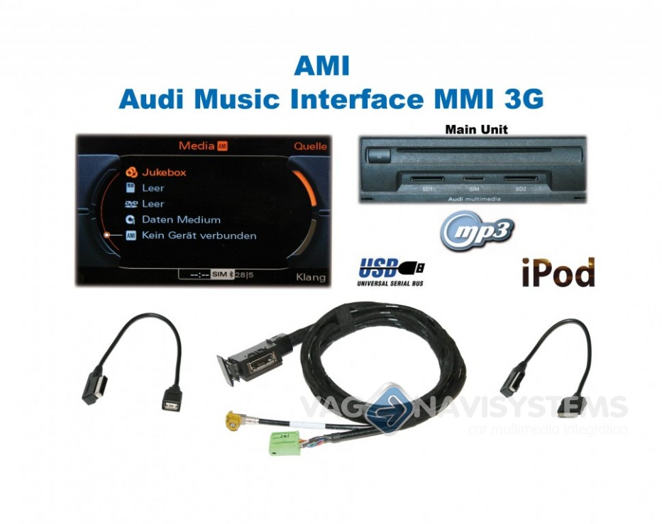 Ami Audi Music Interface Retrofit Set Audi Mmi 3g Q5 8r Vag Navisystems