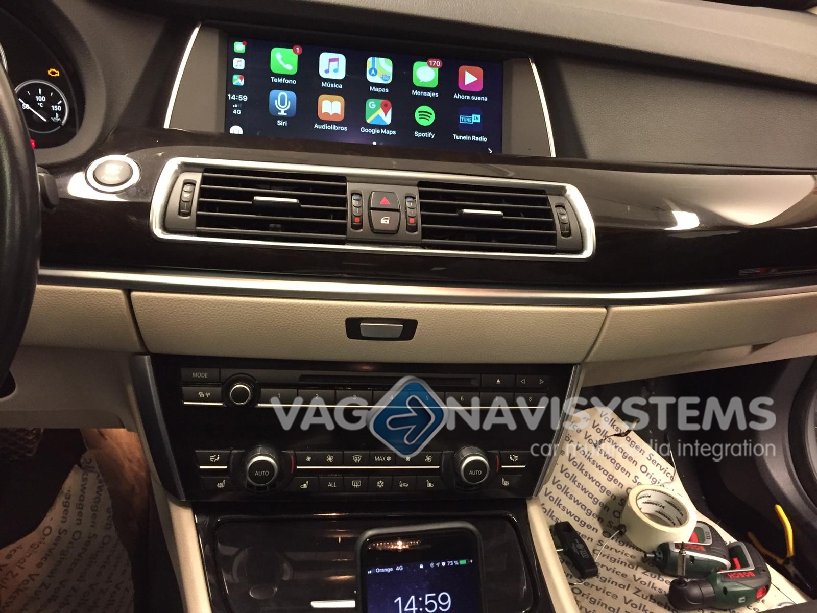 Bmw Serie 1 3 5 6 7 X1 X3 X5 And Mini R56 Apple Carplay Android Auto Interface Plug Play Carplay Link 3 Gt F34 Vag Navisystems