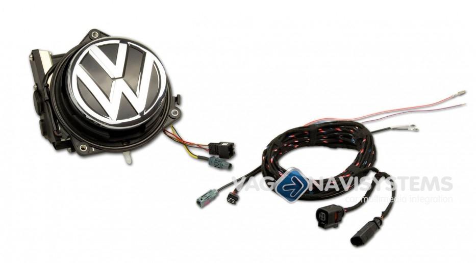 Rear view camera - Retrofit - Flip badge (emblem) - VW