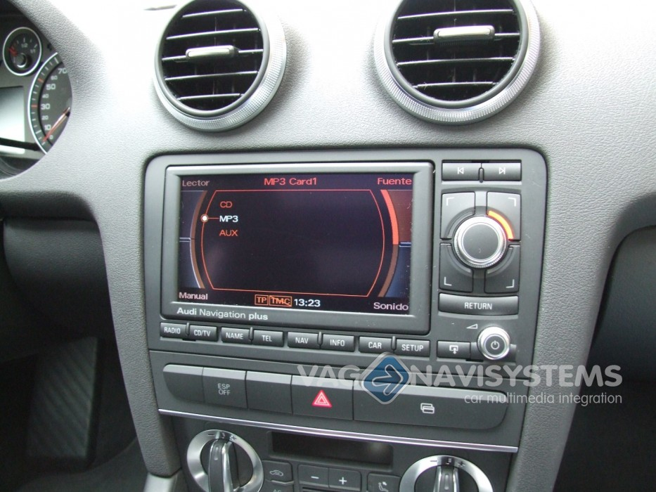 audi navigation plus rns e dvd chrome 8p0035192s audi a3 s3 rs3 8p refurbished. Black Bedroom Furniture Sets. Home Design Ideas