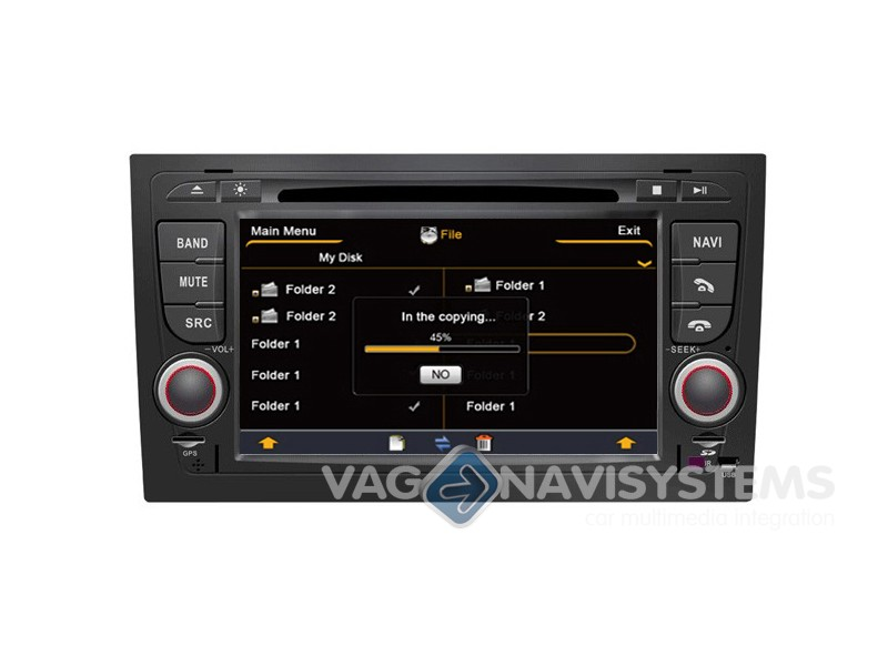 aftermarket navigation audi a4 8e 2003 2008 2 din 7 hd gps dvd ipod usb sd bt s100. Black Bedroom Furniture Sets. Home Design Ideas