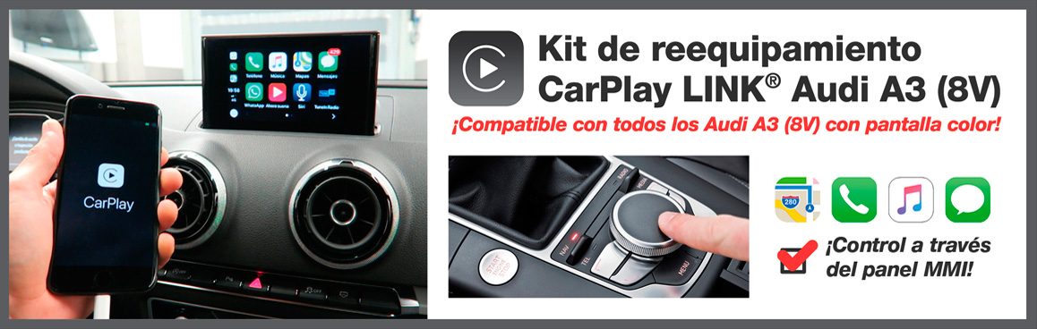 CarPlay LINK® Audi A3 (8V)